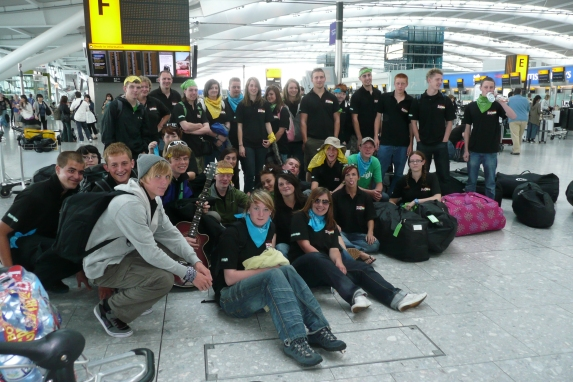 West Sussex Inspire India 2009 group at Heathrow